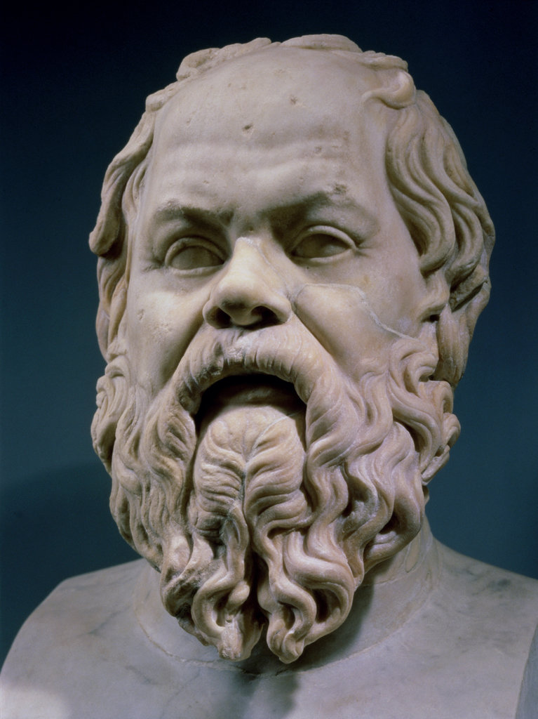 Stock Photo: 862-1146 Socrates  Roman Marble Sculpture  Museo Capitolino Rome