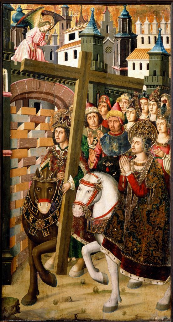 Stock Photo: 862-1156 St. Helena and Heraclius Taking the Cross to Jerusalem  Martin Bernat (1454-1497/Spanish)  Tempera  Saragozza Museum, Spain