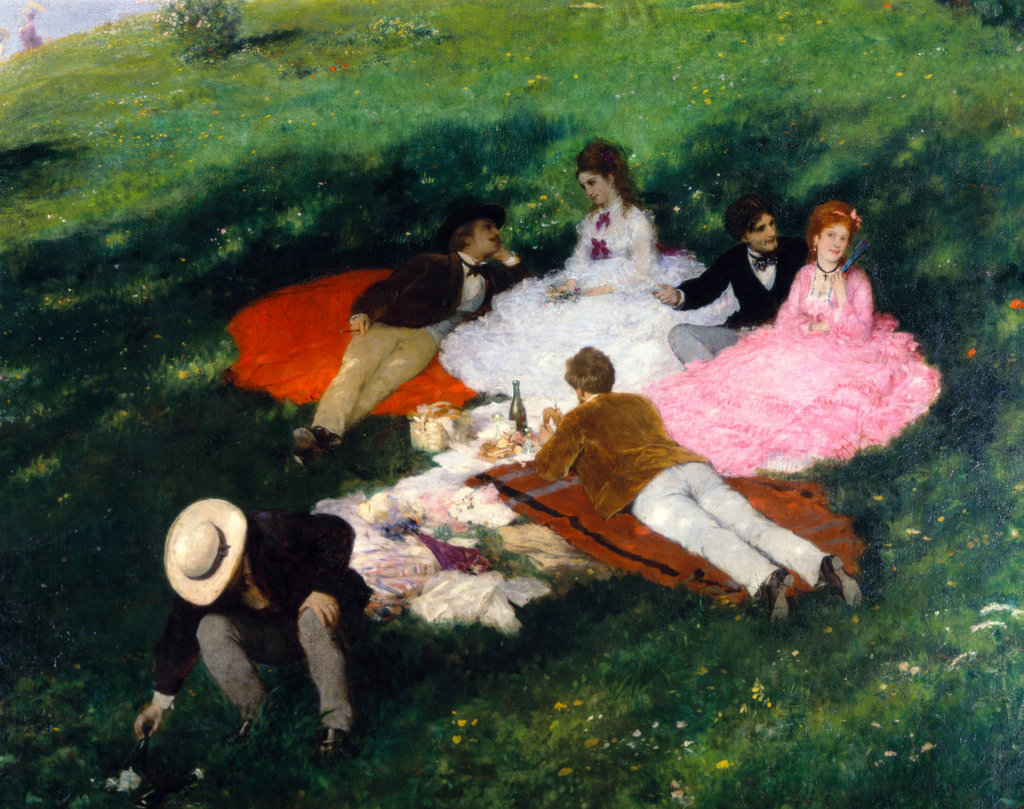 Stock Photo: 862-1160 Picnic in May 