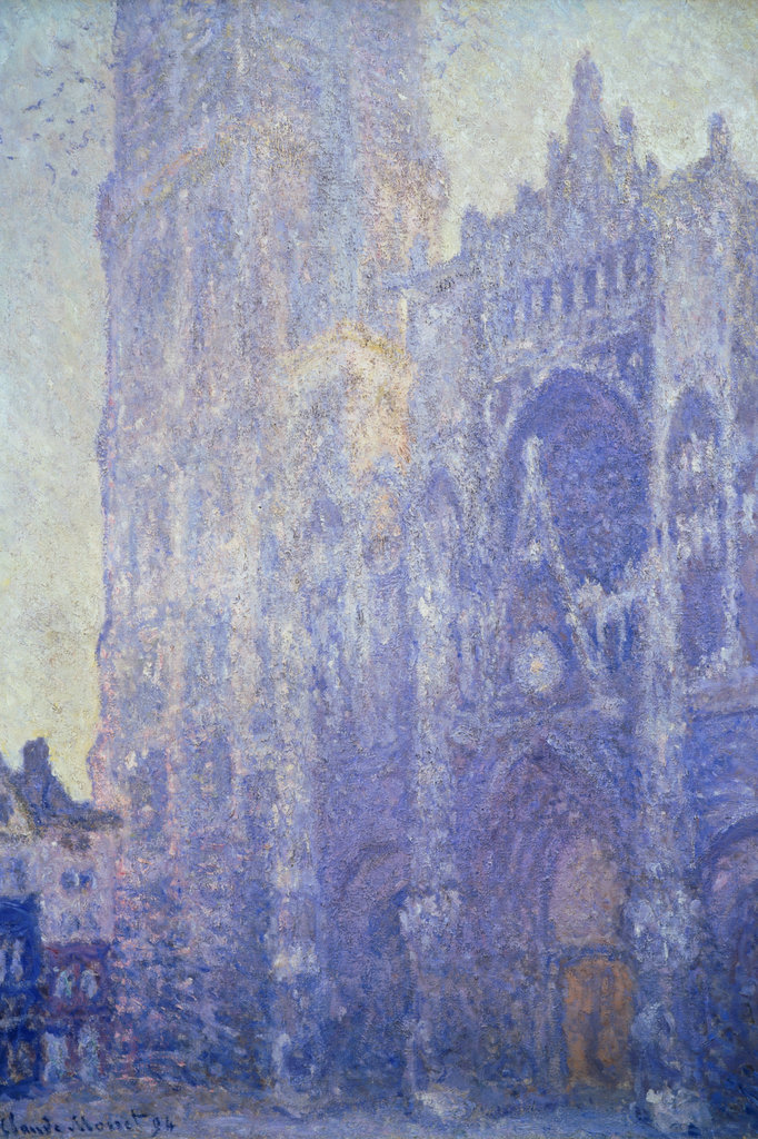 Stock Photo: 862-1163 Rouen Cathedral Doorway Morning White Harmony