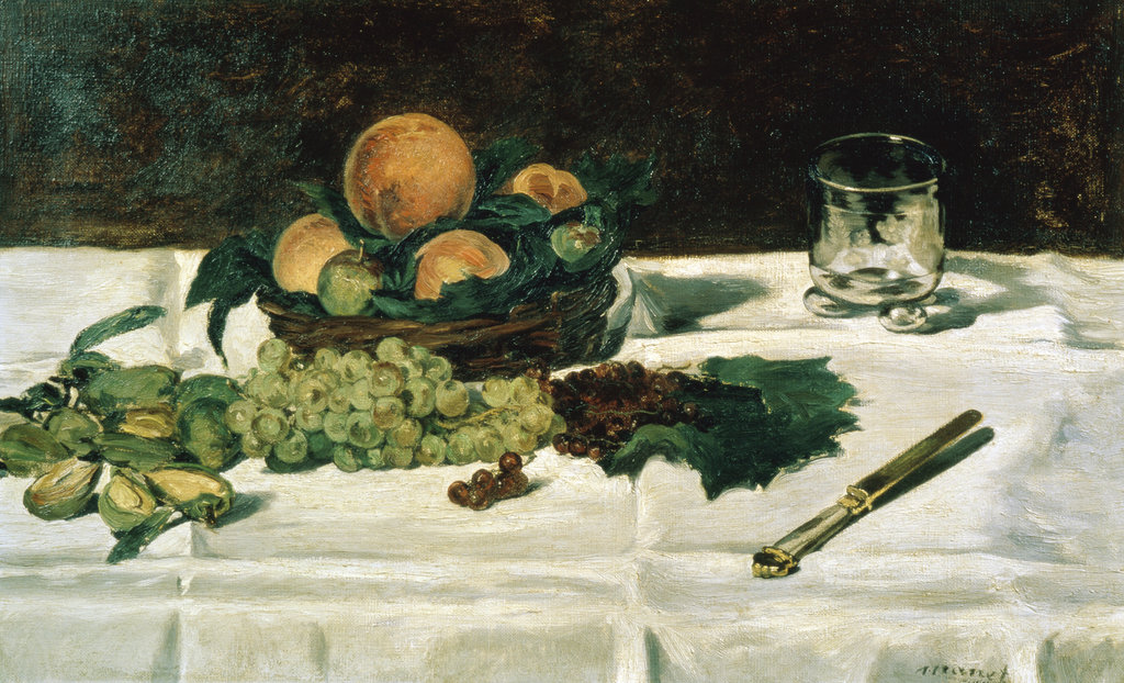 Stock Photo: 862-1165 Still Life with Fruit - Raisins, Peaches and Almonds