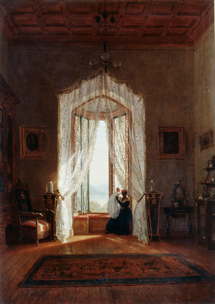 Stock Photo: 862-1216 Window on the Hudson Worthington Whittredge (1820-1910 American) New York Historical Society