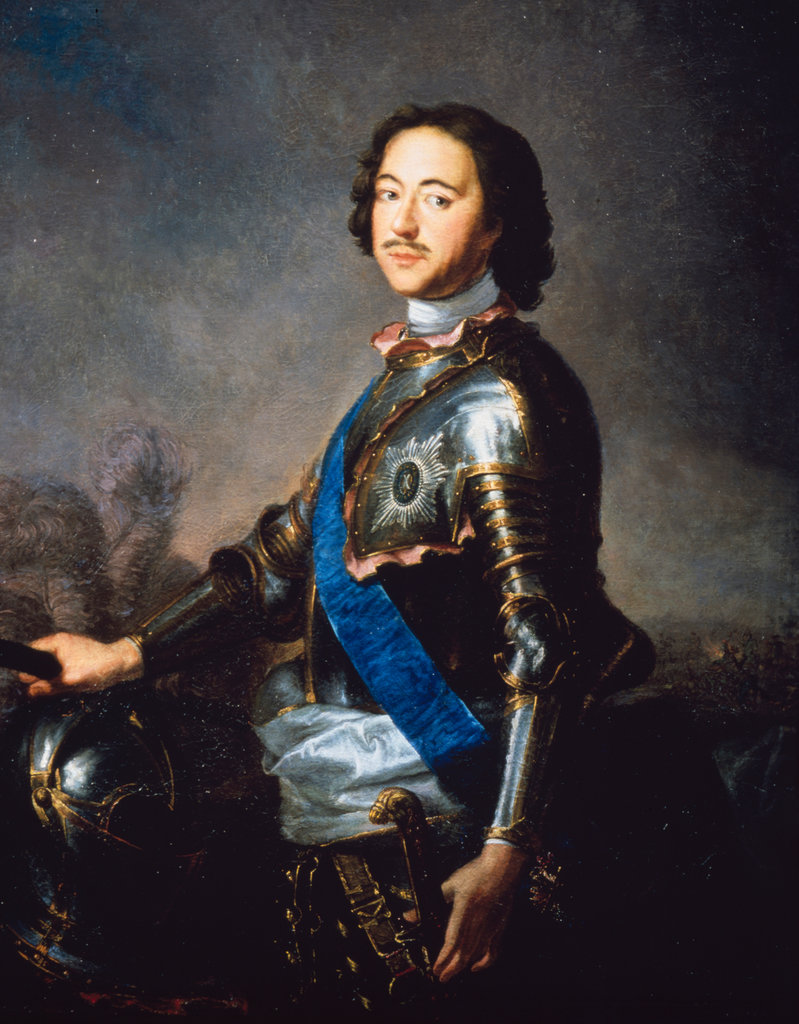 Stock Photo: 862-1229 Tsar Peter I Great by Jean Marc Nattier, painting, (1685-1766), Russia, Moscow, Historical Museum