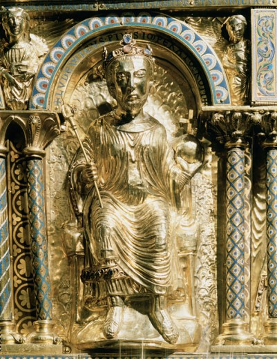 Louis The Pious Son Of Charlemagne  Artist Unknown Cathedral Treasury, Aachen, Germany  : Stock Photo