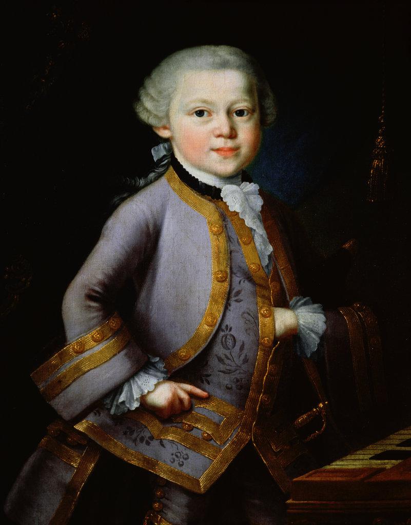 Stock Photo: 862-1243 Mozart as Young Boy 18th C. Artist Unknown Mozart Birthplace, Salzburg, Austria