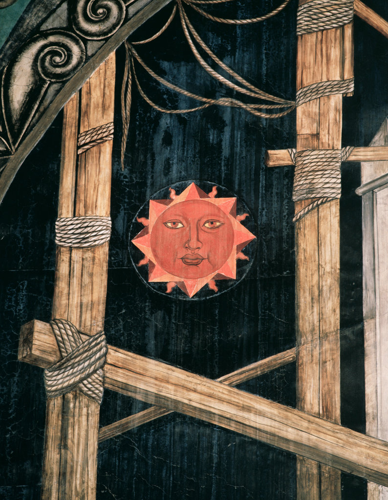 Stock Photo: 862-1251 Sun Detail from Fiesta de la Ciudad