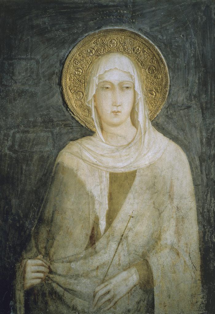 Saint Clare of Assisi Simone Martini (C. 1284-1344/Italian) Church of San Francisco, Assisi, Italy : Stock Photo