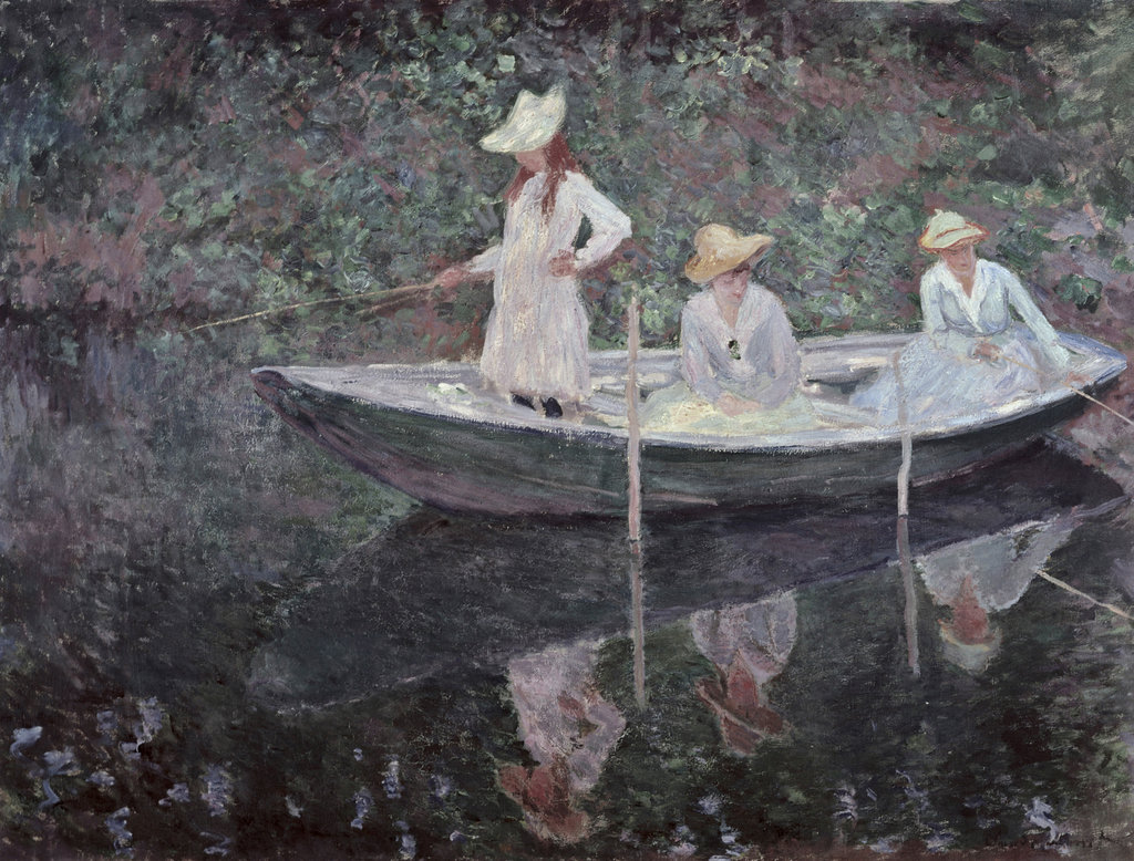 The Boat at Giverny 1887 Claude Monet (1840-1926 French) Musee d'Orsay, Paris, France : Stock Photo
