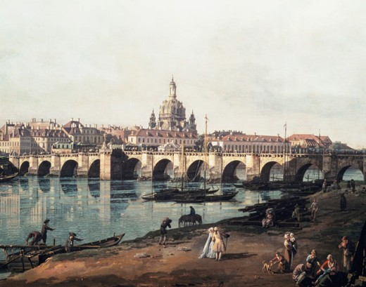 Stock Photo: 862-1277 View Of Dresden From Right Side Of River Elbe 1751