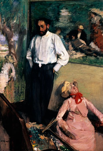 Portrait of Henri Michel-Levy by Edgar Degas, ca. 1878, oil on canvas, (1834-1917), Portugal, Lisbon, Museum Calouste Gulbenkian : Stock Photo