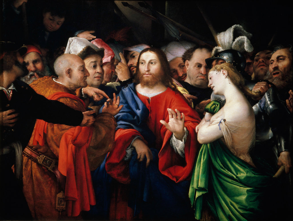 Stock Photo: 862-1289 Christ and the Adulterous Woman