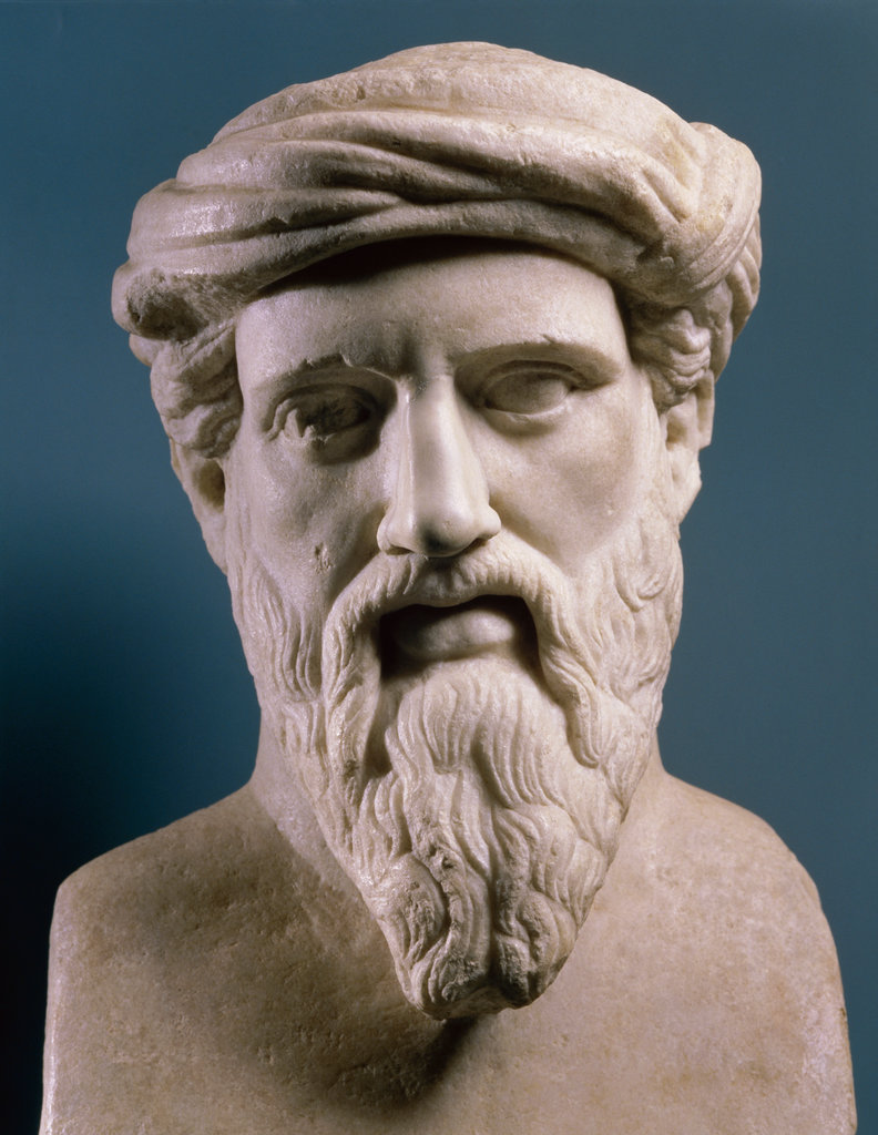Pythagoras Mathematician Marble Bust