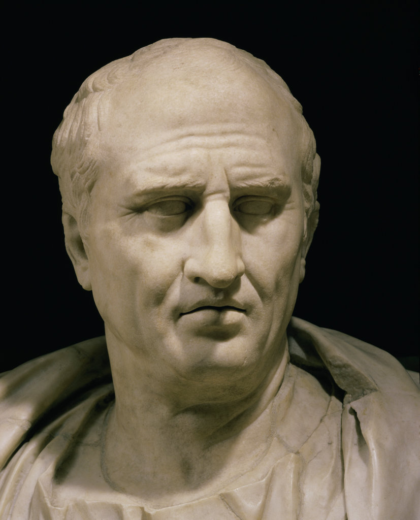 Stock Photo: 862-1313 Cicero Marble Bust 