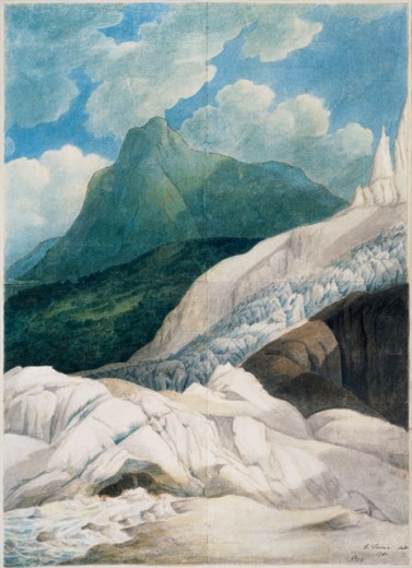 Stock Photo: 862-1318 Source Of The Aveyron  Towne, Francis(1740-1816 British) Watercolor Victoria & Albert Museum, London, England