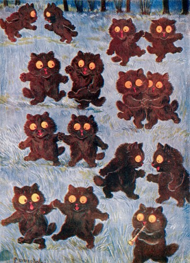 Stock Photo: 862-1324 Cats at Halloween