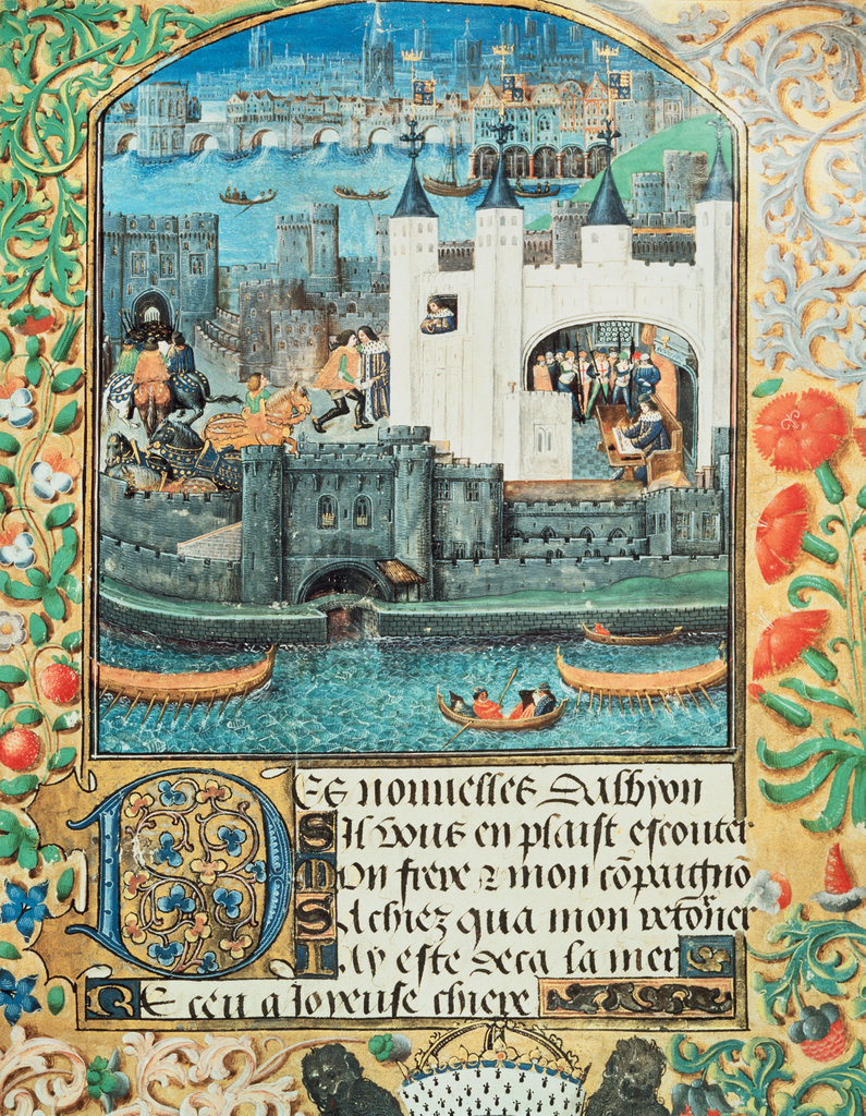 Stock Photo: 862-1332 View of London - Poems of Charles, Duke of Orleans c.15th Century Manuscripts British Library, London
