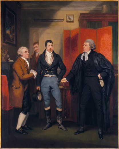 Stock Photo: 862-1343 Stage Scene From Love, Law And Physic 