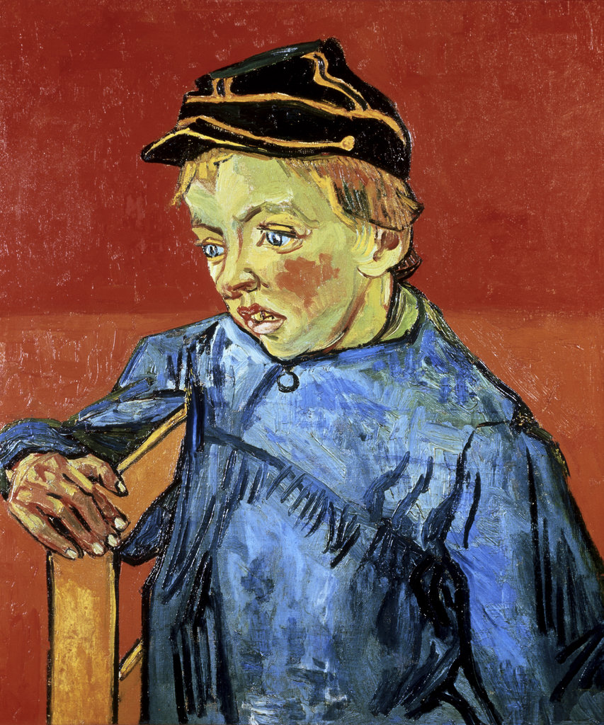 Stock Photo: 862-1391 Camille Roulin  (The Schoolboy) c.1885-90 Vincent van Gogh (1853-1890/Dutch) Oil on Canvas Sao Paulo Museum of Art, Sao Paulo, Brazil