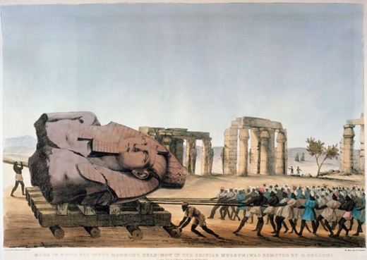 Removal Of Memnon's Head, Egypt 
