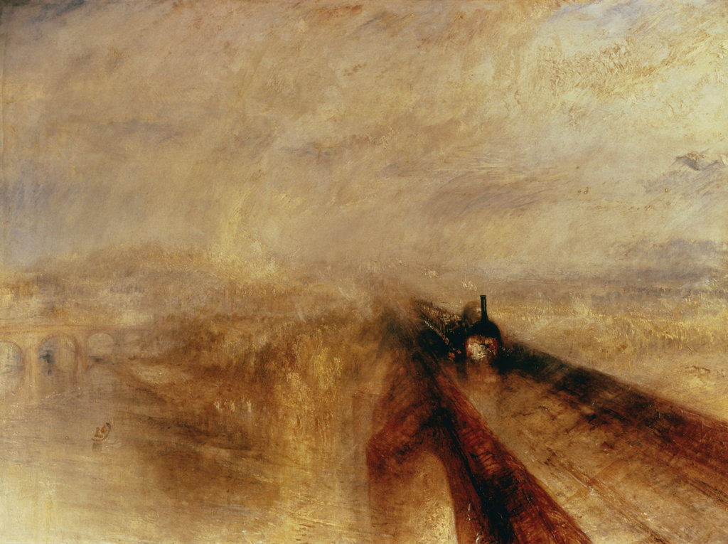 Stock Photo: 862-1407 Rain, Steam, & Speed--The Great Western Railway