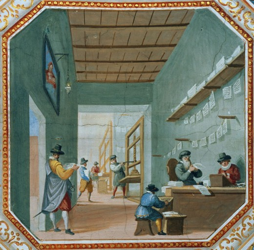 Scene Inside Printing Works And Ship (Detail) 
