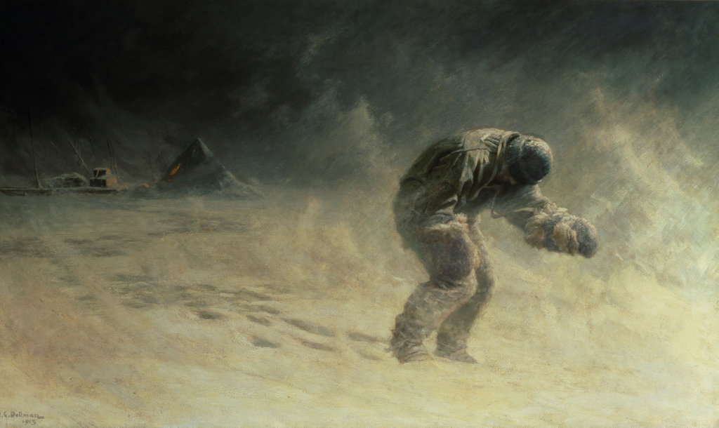 Stock Photo: 862-1409 A Very Gallant Gentleman (Capt. Oates, South Pole 1912)