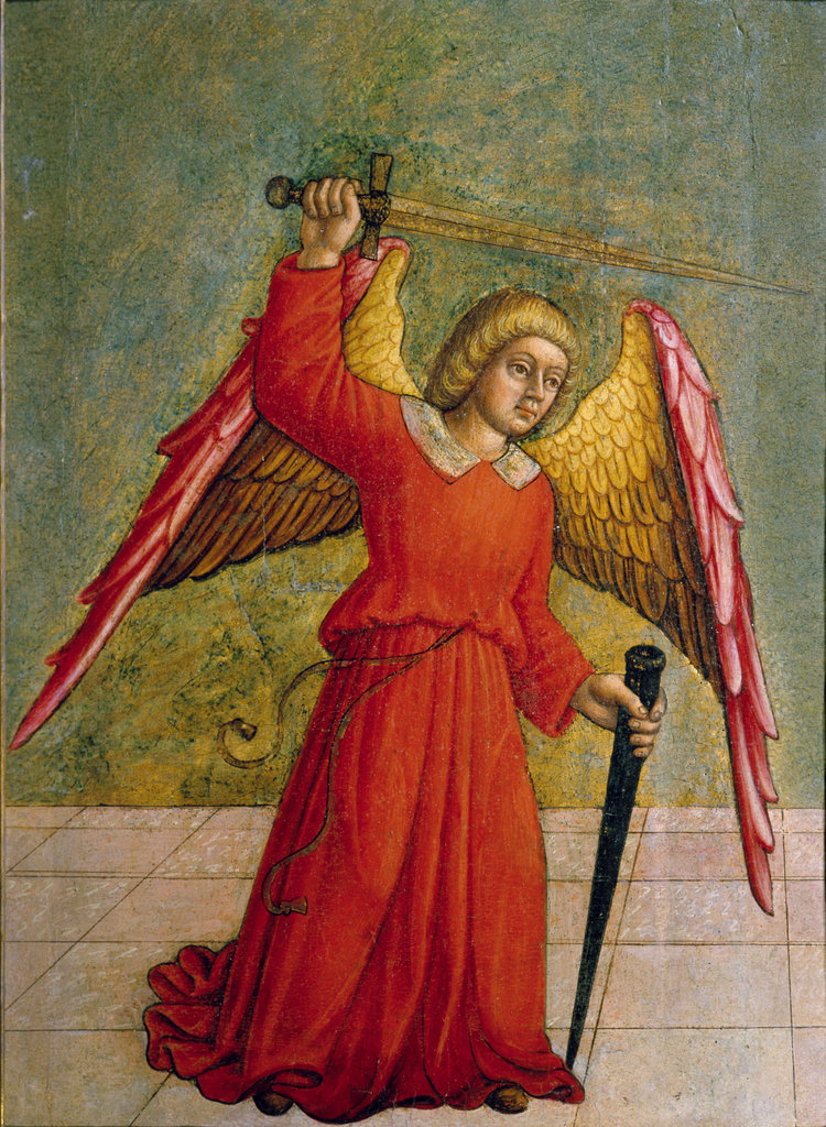 Stock Photo: 862-1412 Angel Armed with Sword 