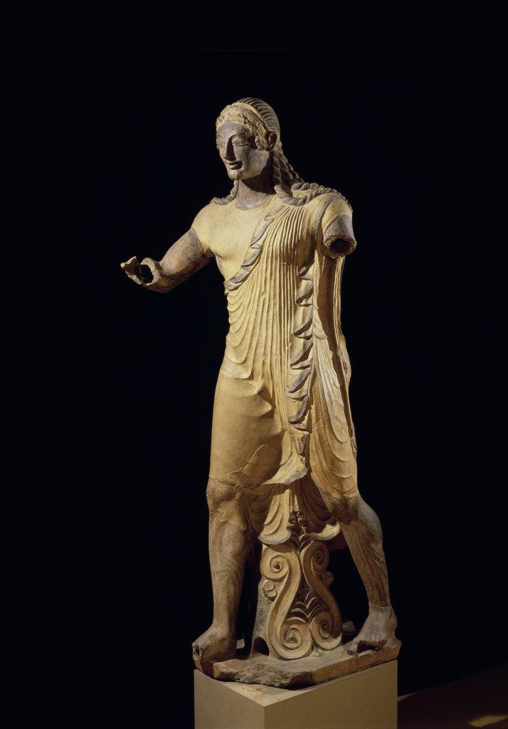 Apollo of Veio Etruscan Art (7th C-3rd C.) Terra cotta Villa Giulia National Museum, Rome, Italy : Stock Photo