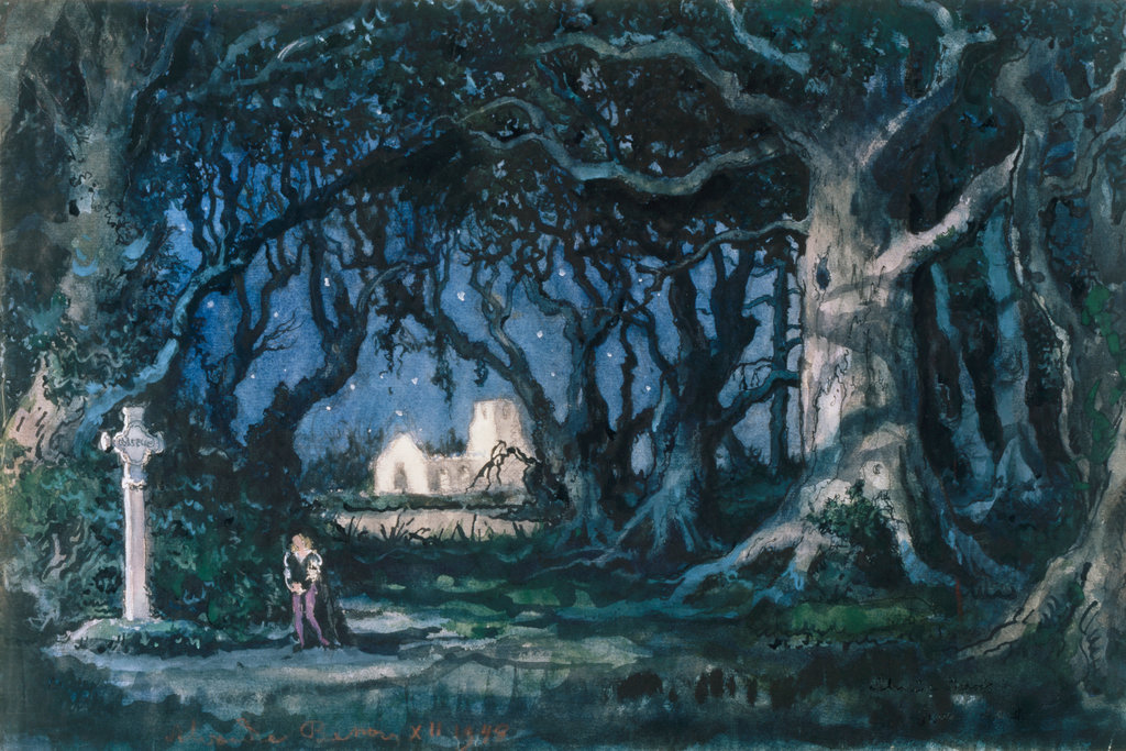 Stage Design For Giselle, Act II