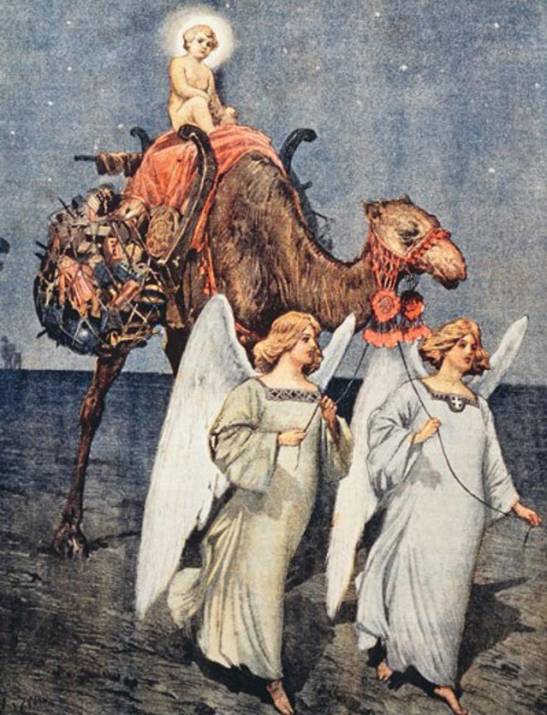 Stock Photo: 862-1456 Allegory Of Christmas  Artist Unknown La Domenica del Corriere, Italy