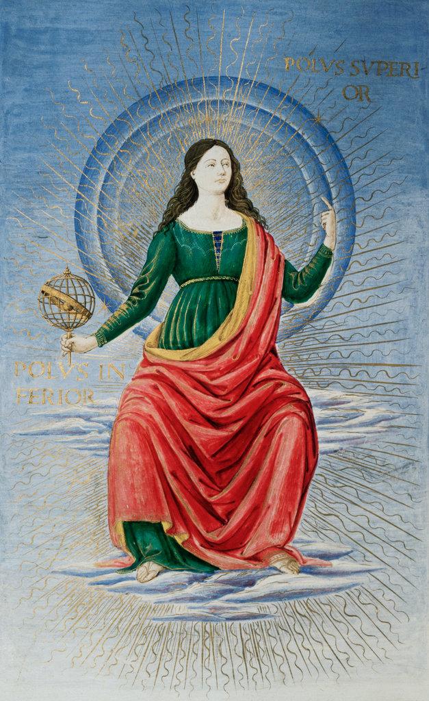 Stock Photo: 862-1487 Italian Astronomy, Delle Arti e Delle Science  16th Century Manuscript Biblioteca Marciana, Venice, Italy