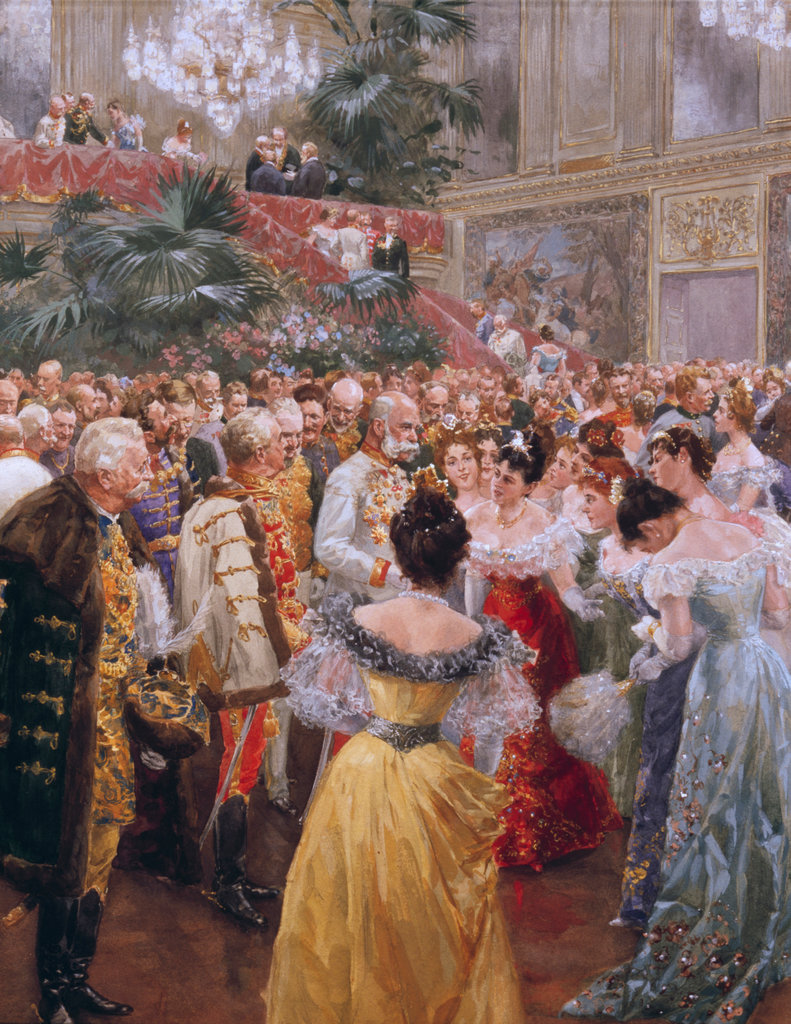 Emperor Franz Joseph At A Ball In Vienna In 1900, To Salute The Start Of A New Century
