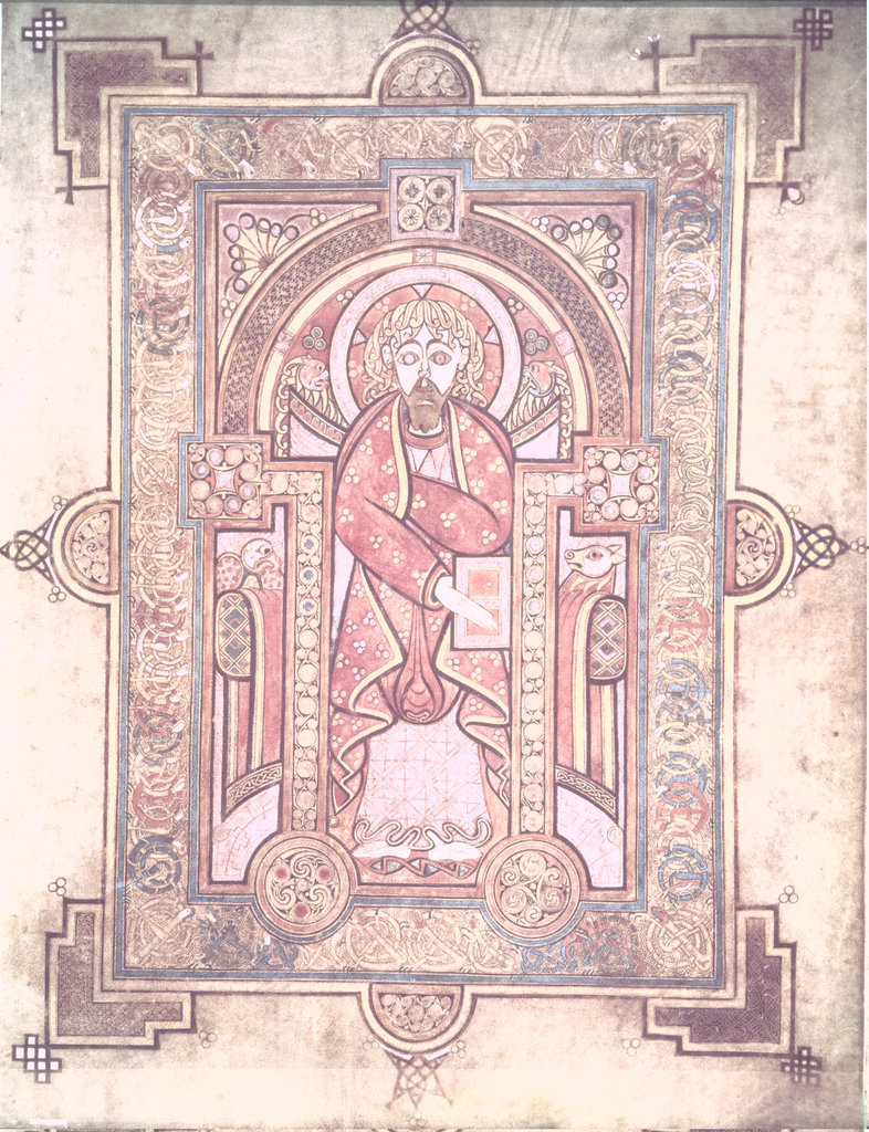 Stock Photo: 862-1511 Book of Kells: St. Mark 