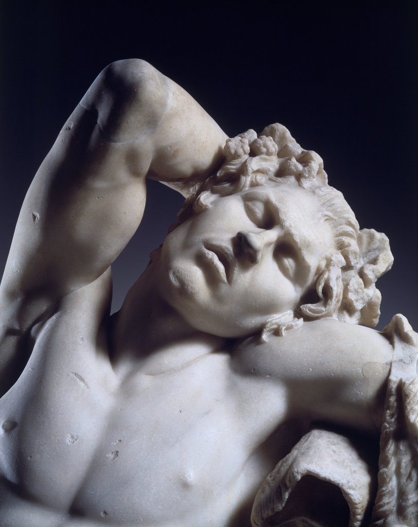 Stock Photo: 862-1516 Statue of Sleeping Satyr (Barberini Faun) 