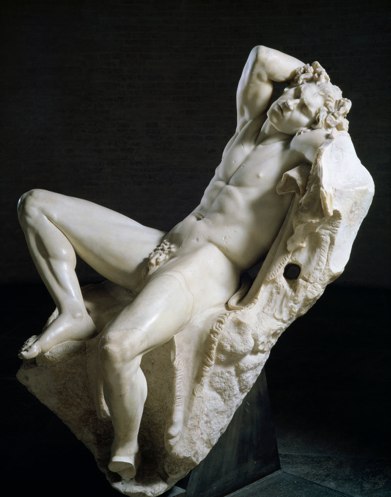 Statue of Sleeping Satyr (Barberini Faun)