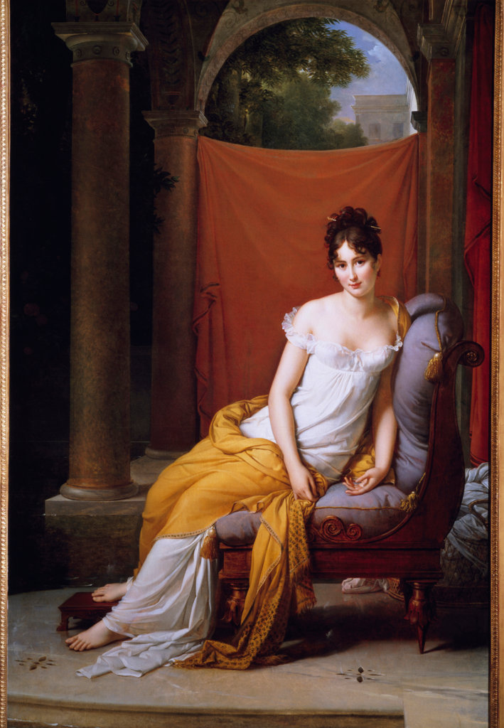 Stock Photo: 862-1585 Madame Recamier (1770-1849) 