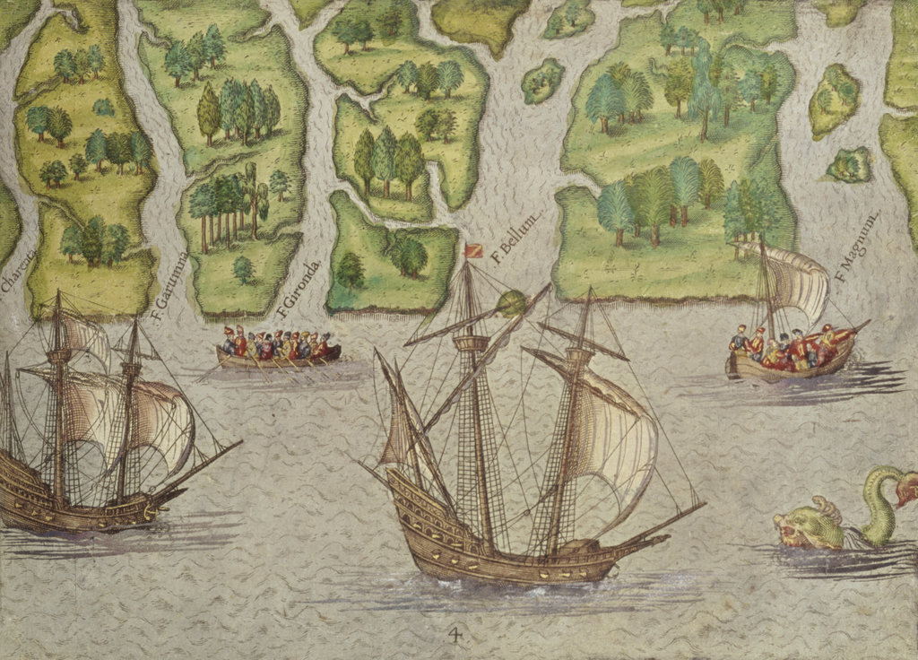 Stock Photo: 862-1614 Six Other Rivers Discovered by the French