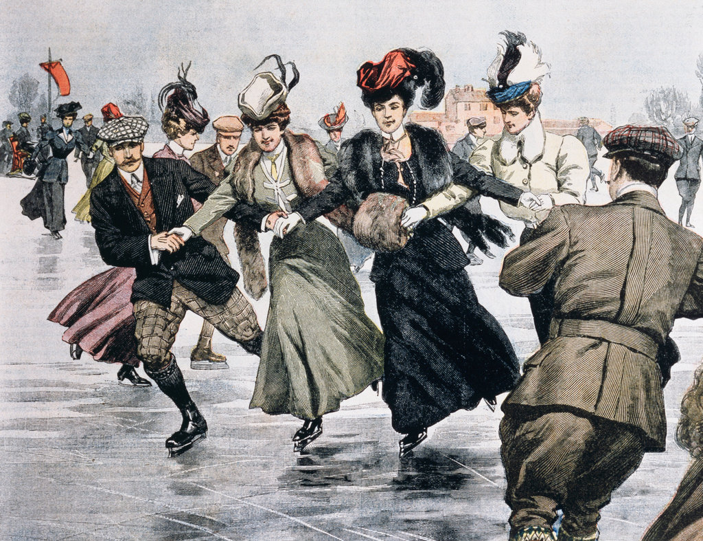 Stock Photo: 862-1621 Ice-Skating On The Arena, Milan 