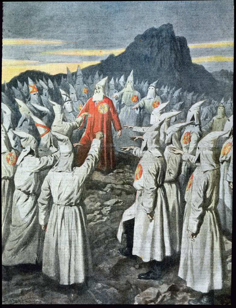 Stock Photo: 862-1626 Ceremony of Klu Klux Klan in America