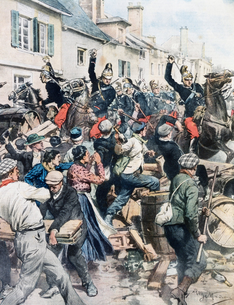 Unrest Among Vineyard Workers In Champagne 23.4. 1911