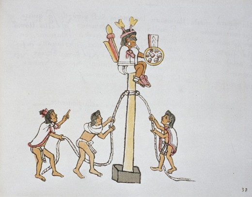 Stock Photo: 862-1633 The Pole Ceremony or Volador