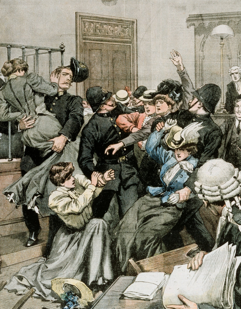 Stock Photo: 862-1640 Suffragettes Expelled After Demonstrating at Westminster