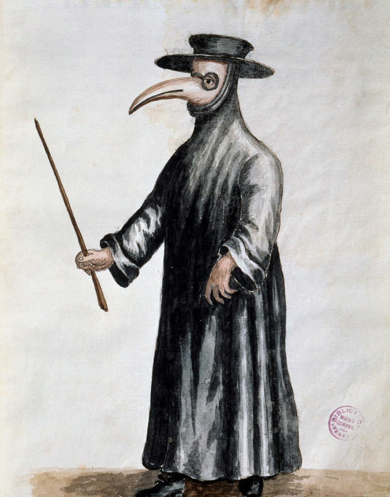 Masked Doctor During Plague in Venice