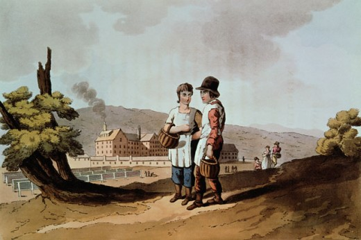 The Factory Children from the Costume of Yorkshire 