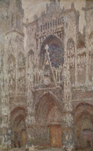 Rouen Cathedral (Temps Gris) Monet, Claude 1840-1926  French Jeu De Paume, Louvre, Paris  : Stock Photo