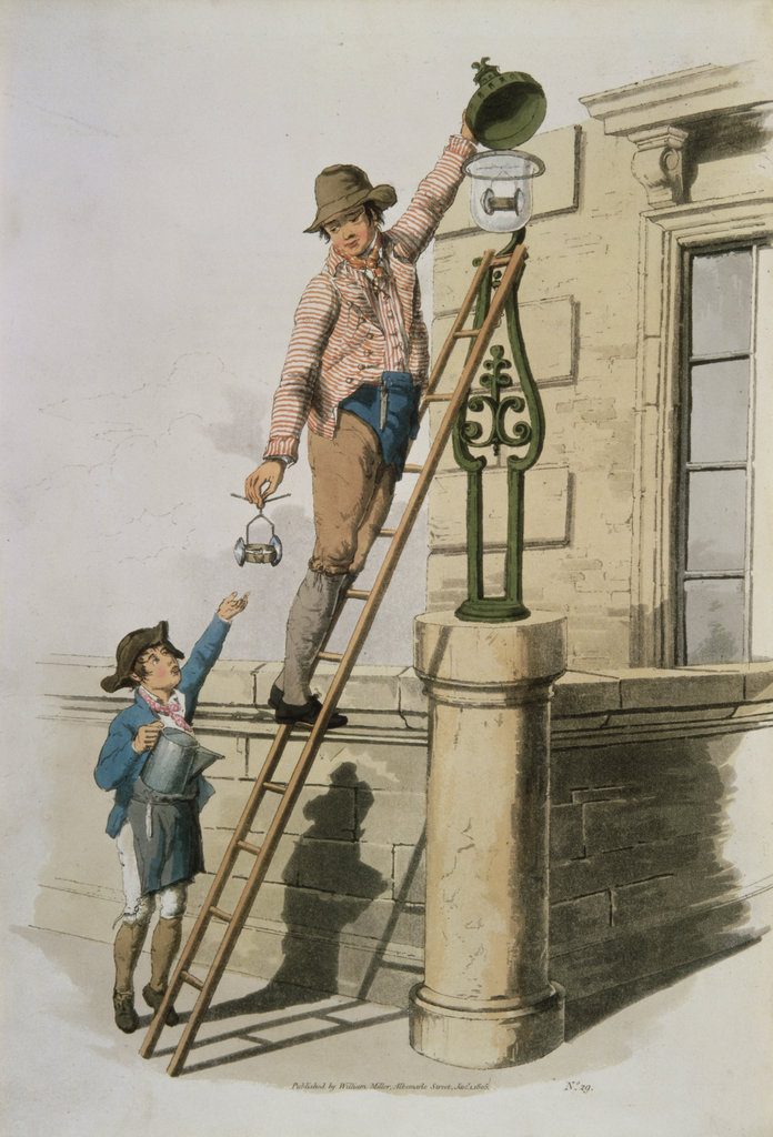 Stock Photo: 862-1719 Lamplighter