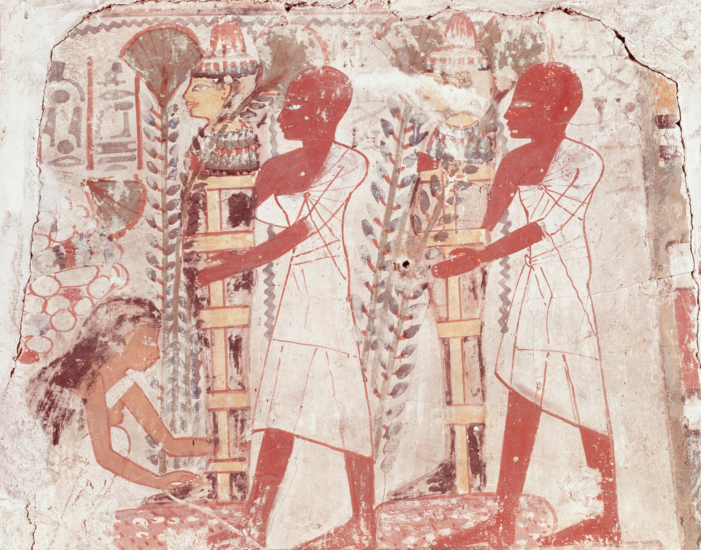 Stock Photo: 862-1724 Ceremony of Purification of Two Mummies
