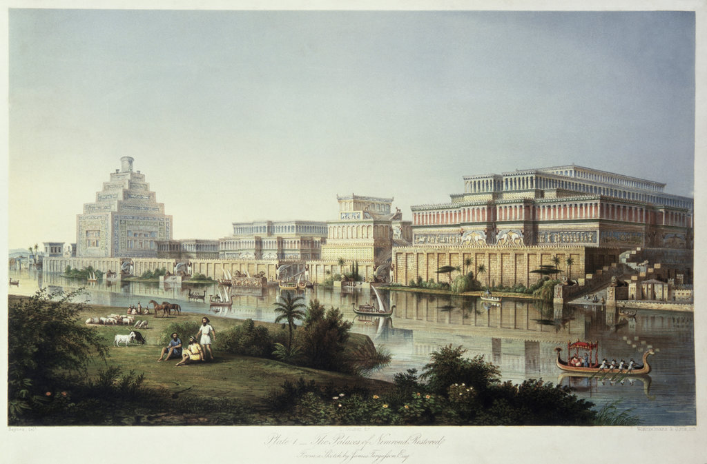 Stock Photo: 862-1751 The Palaces of Nimrud Restored