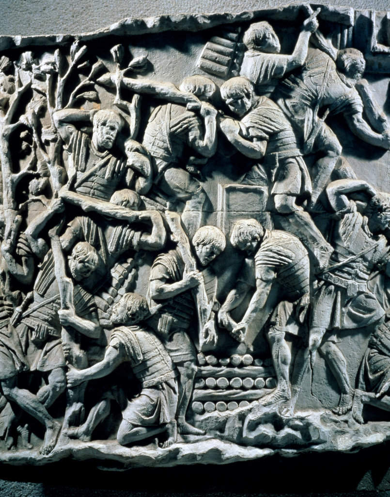 Stock Photo: 862-1757 Roman Troops Prepare Fortifications