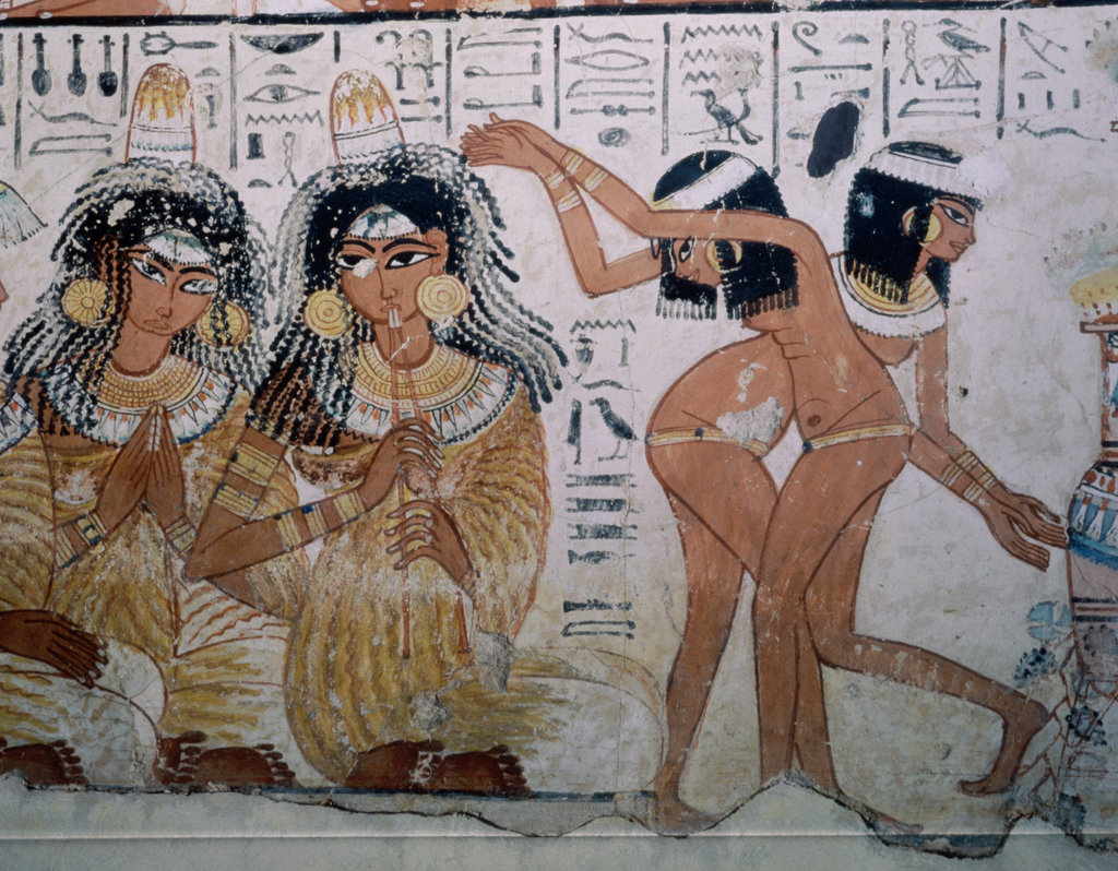 Stock Photo: 862-1759 Banquet Scene with Dancers from Thebes